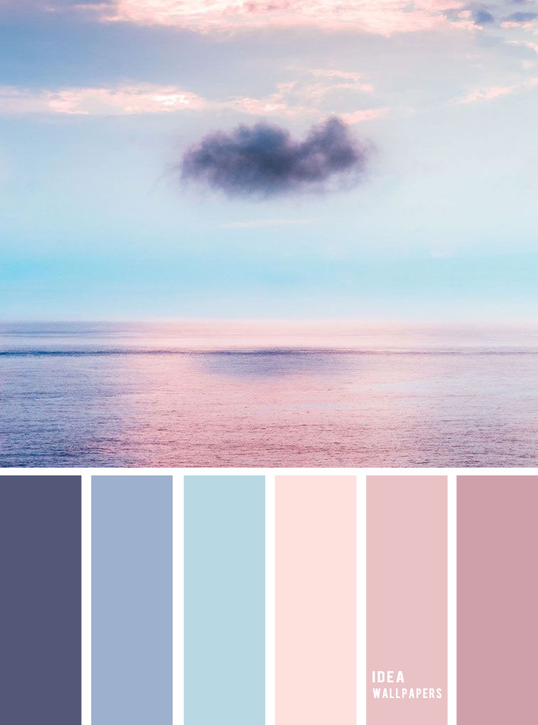 Blue and Mauve color palette inspired by sky
