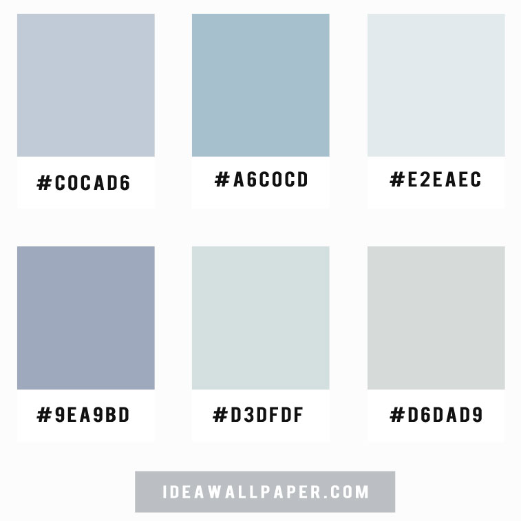 Shades of blue grey color palette