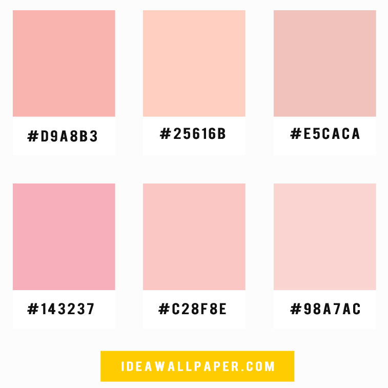 Shades of pink color palette