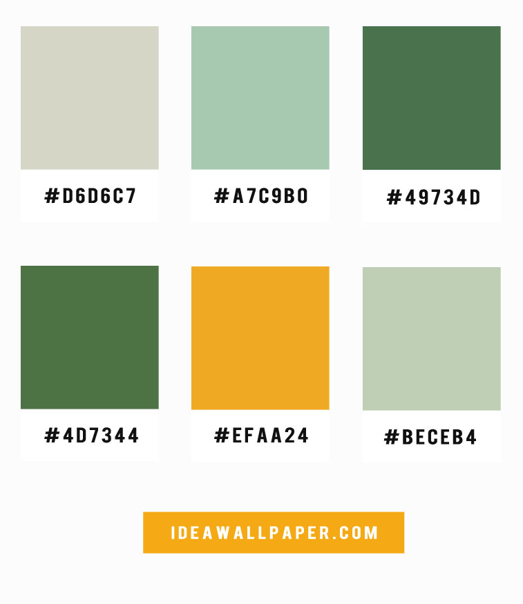 Mint + Green + Mustard Color Palette