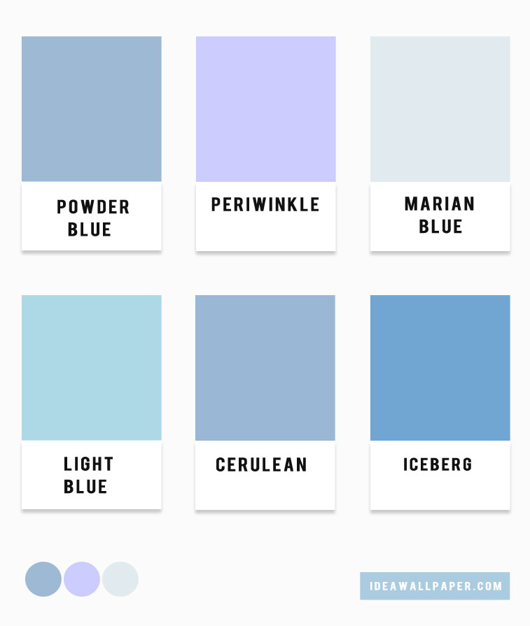 Blue Hues Color Palette Combination Light