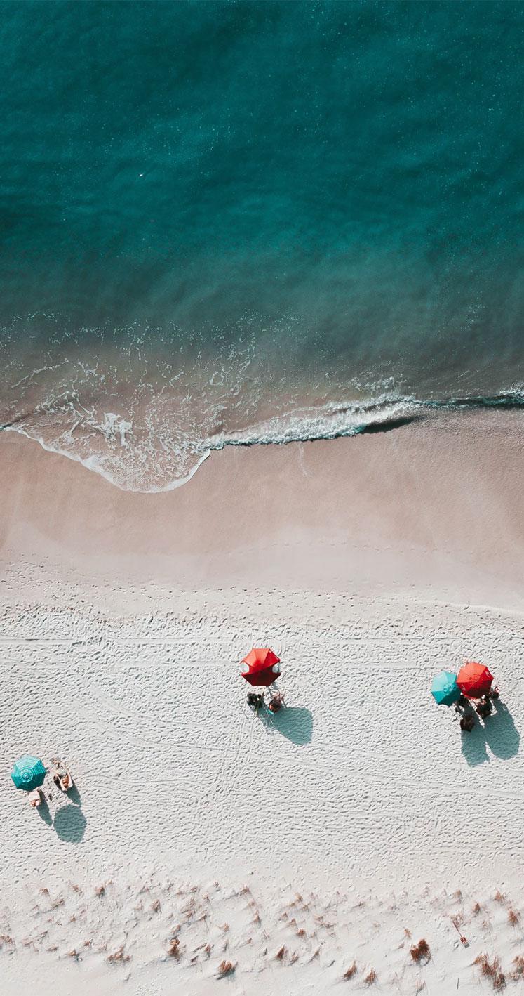 White Sand Emerald Sea iPhone Wallpaper
