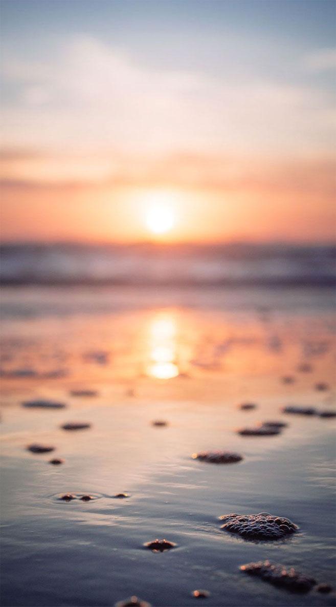 Sunset beach iPhone wallpaper