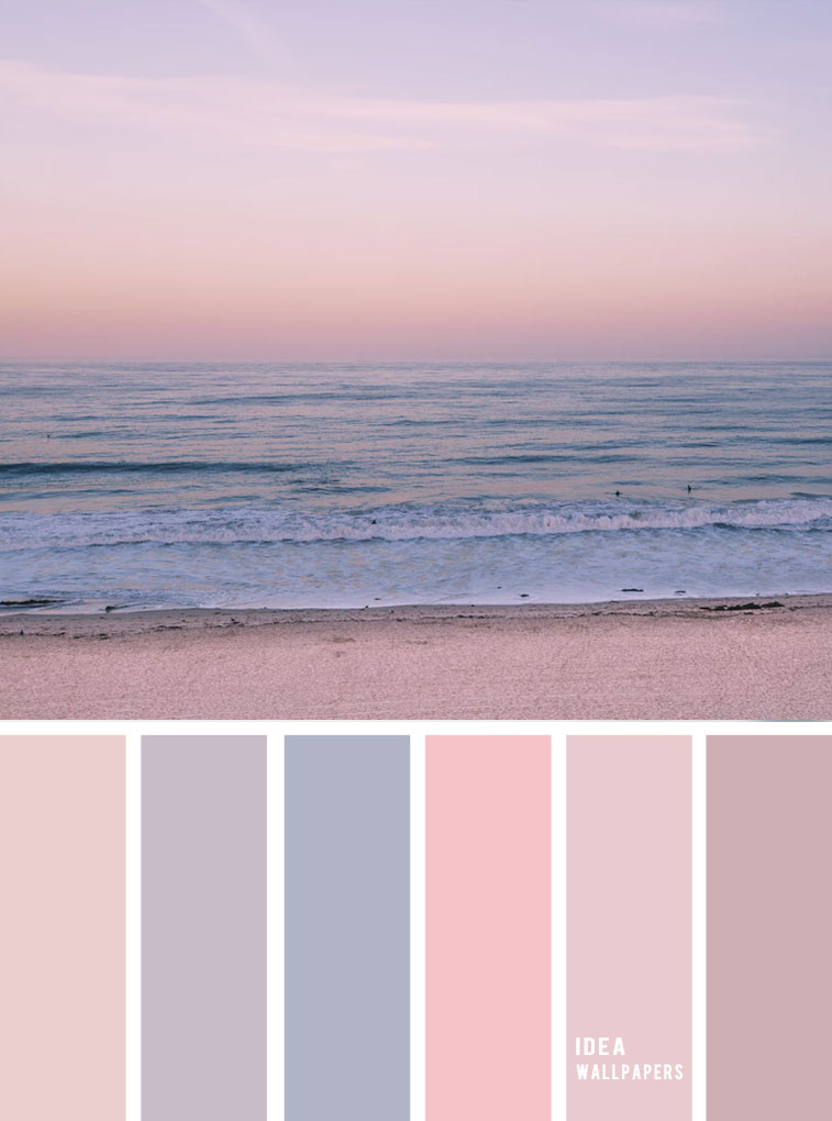 Mauve sky inspired color palette { Pastel color scheme }