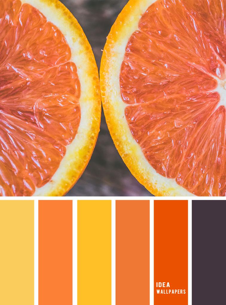orange color scheme, orange yellow color palette #color #colorpalette