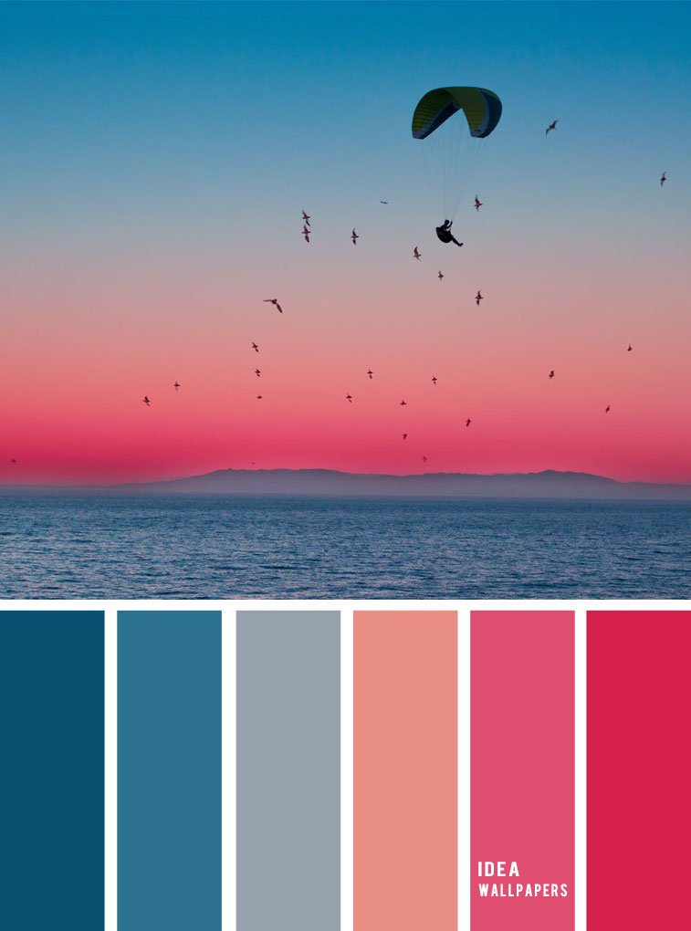 Pink and blue sky inspired color palette