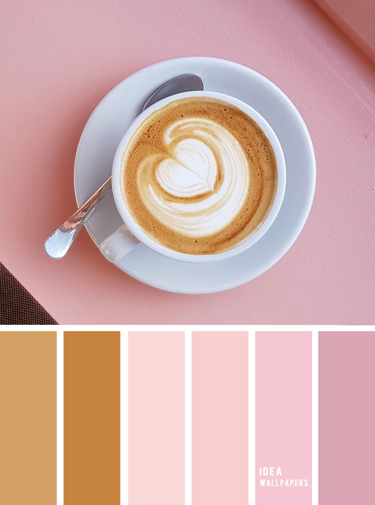 19 The Perfect Pink Color Combinations { Coffee and pink hues }