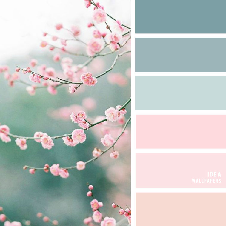 19 The Perfect Pink Color Combinations { Blush + Light blue + Blue Green }