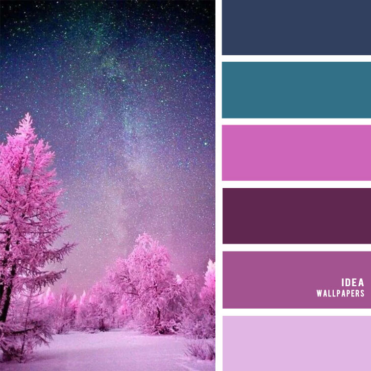 19 The Perfect Pink Color Combinations { Super Pink + Purple + Teal & Dark Blue }