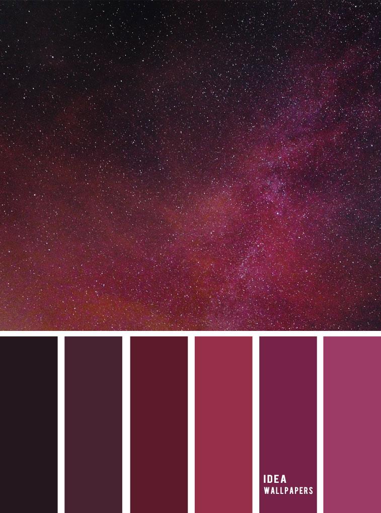 Red Violet sky color palette