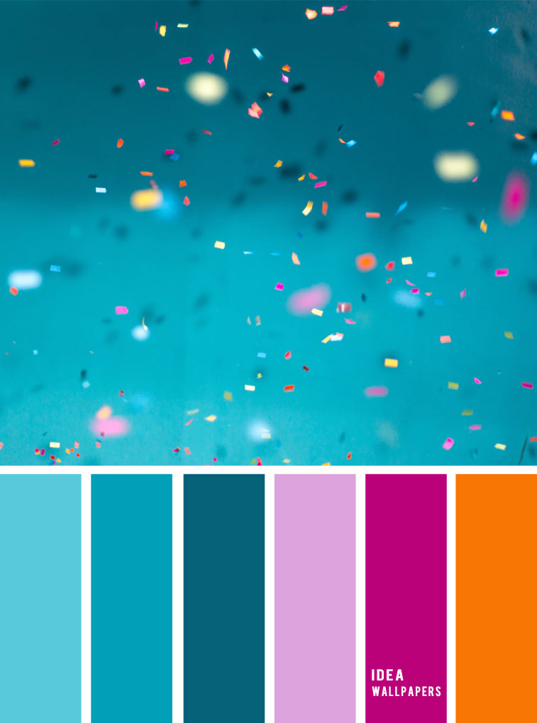 Teal + magenta + orange and lavender