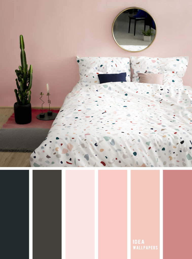 25 Best Color Schemes for Your Bedroom { Navy blue + Dark Grey + Blush }