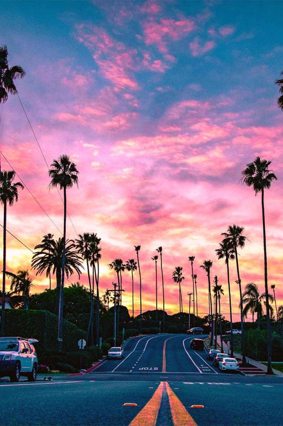 Beautiful pink sky