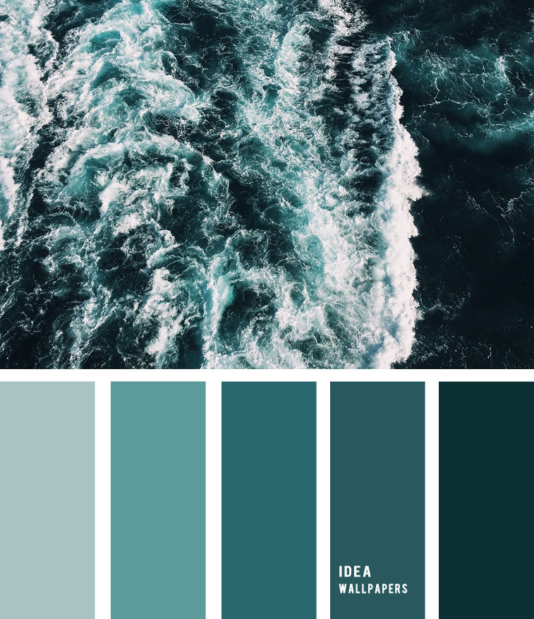 12 Beautiful blue teal color combos { Deep Emerald Green Ocean Inspired }