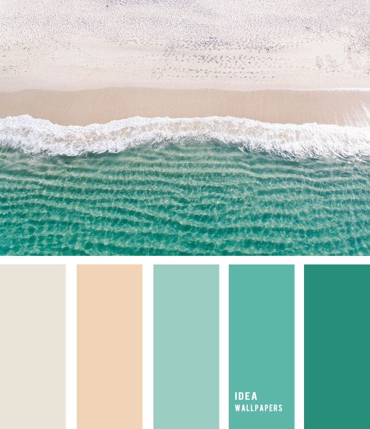 Sand and green sea inspired color palette 19052214