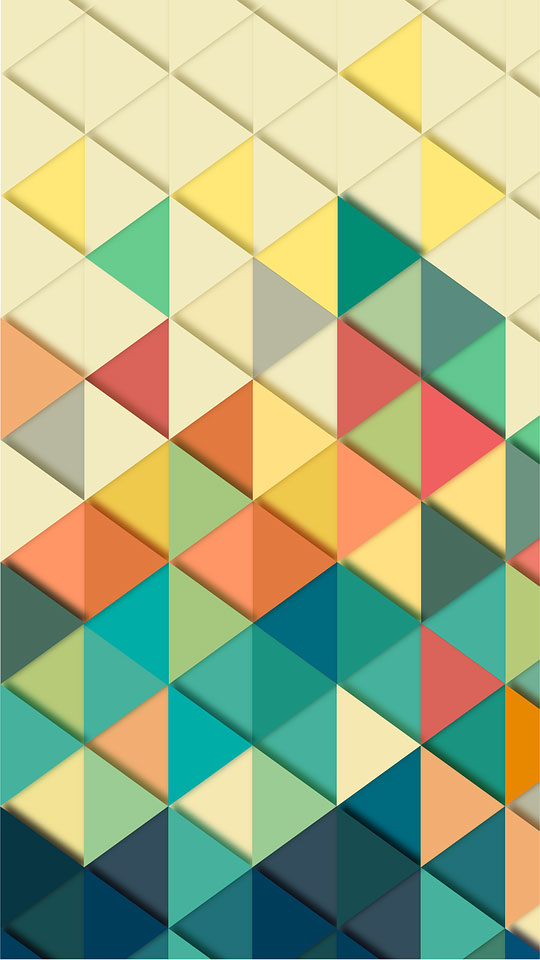 Colorful geometric triangle wallpaper