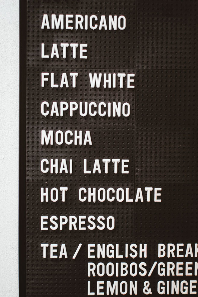 Awesome coffee menu