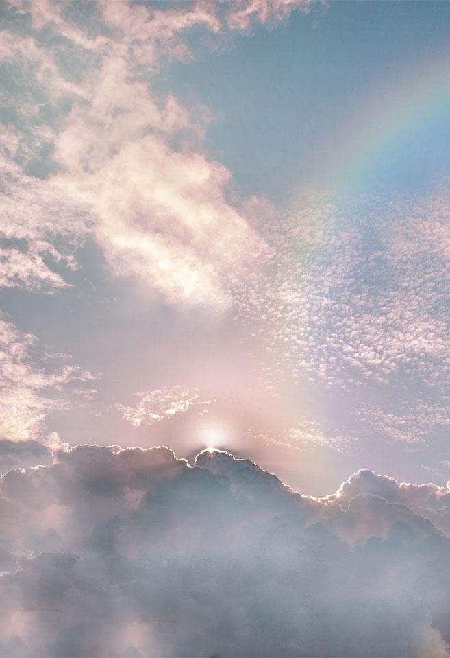 Beautiful sky and rainbow