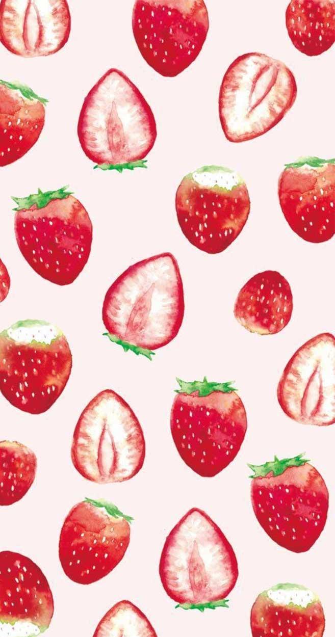strawberry watercolor