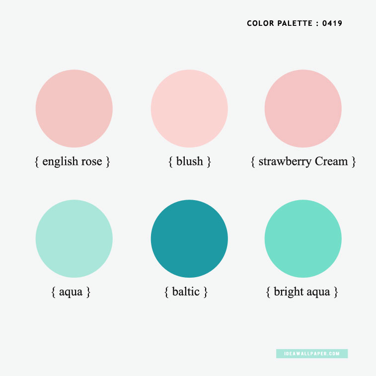 Color Inspiration 0419 : Aqua + Baltic + Blush + English Rose { Pantone Inspired }