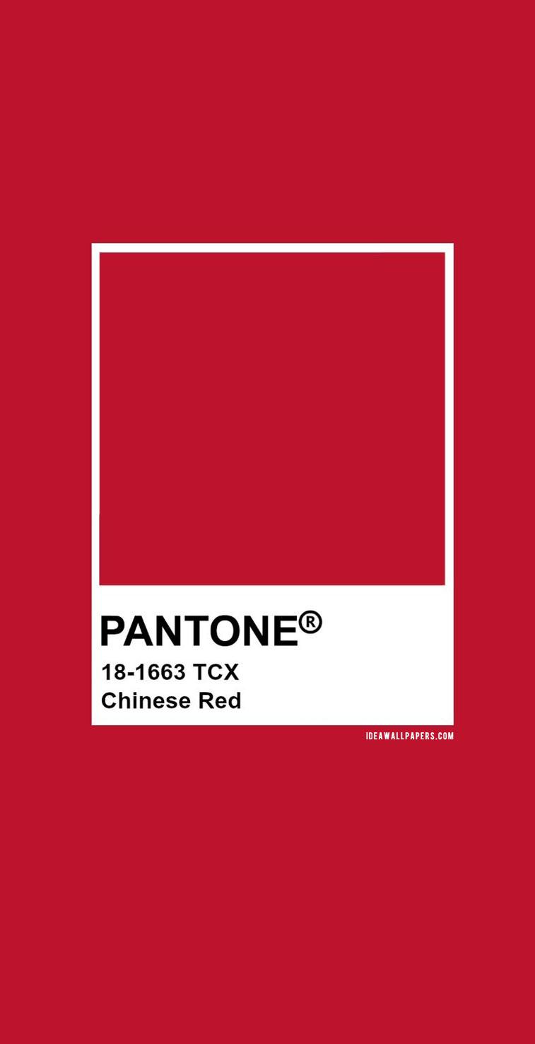 Pantone Chinese Red : Pantone 18-1663