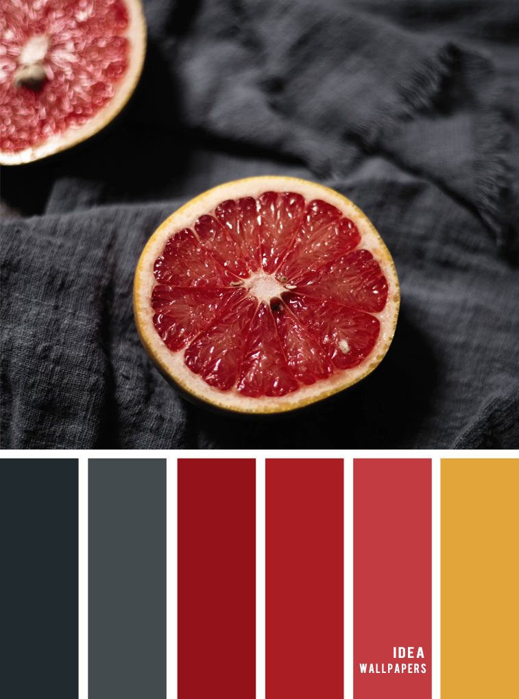 Color Inspiration : Ice cream inspired { Black grey + red citrus }