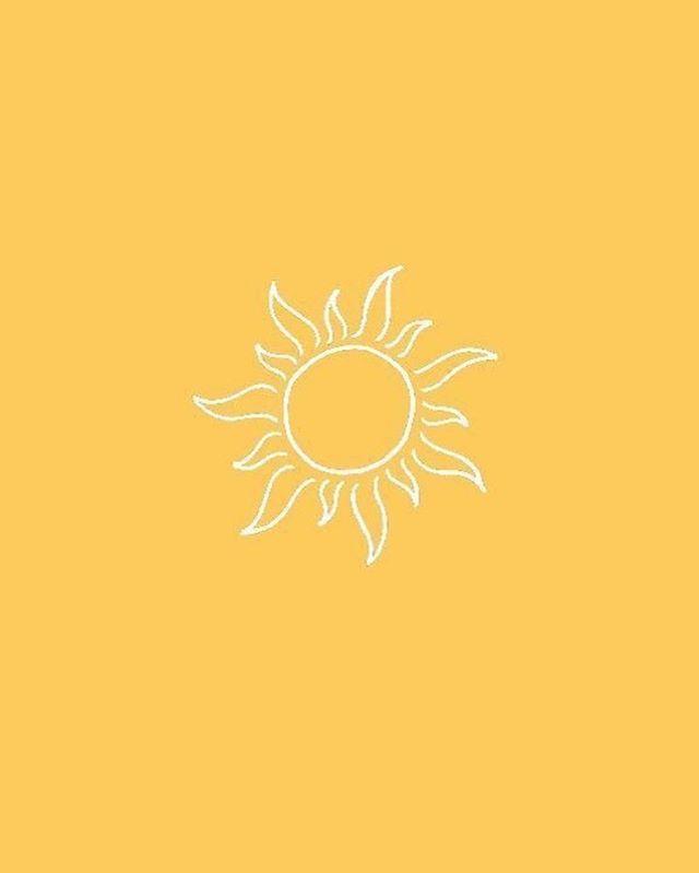 Sun yellow background