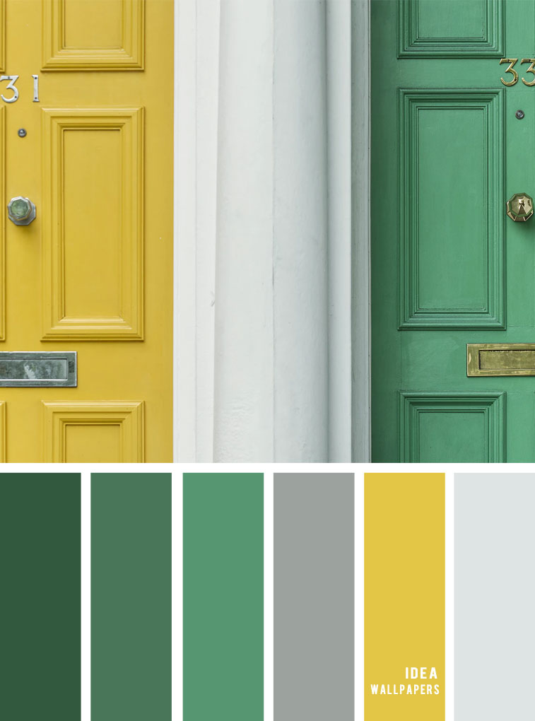 Color inspiration : Green and yellow color palette