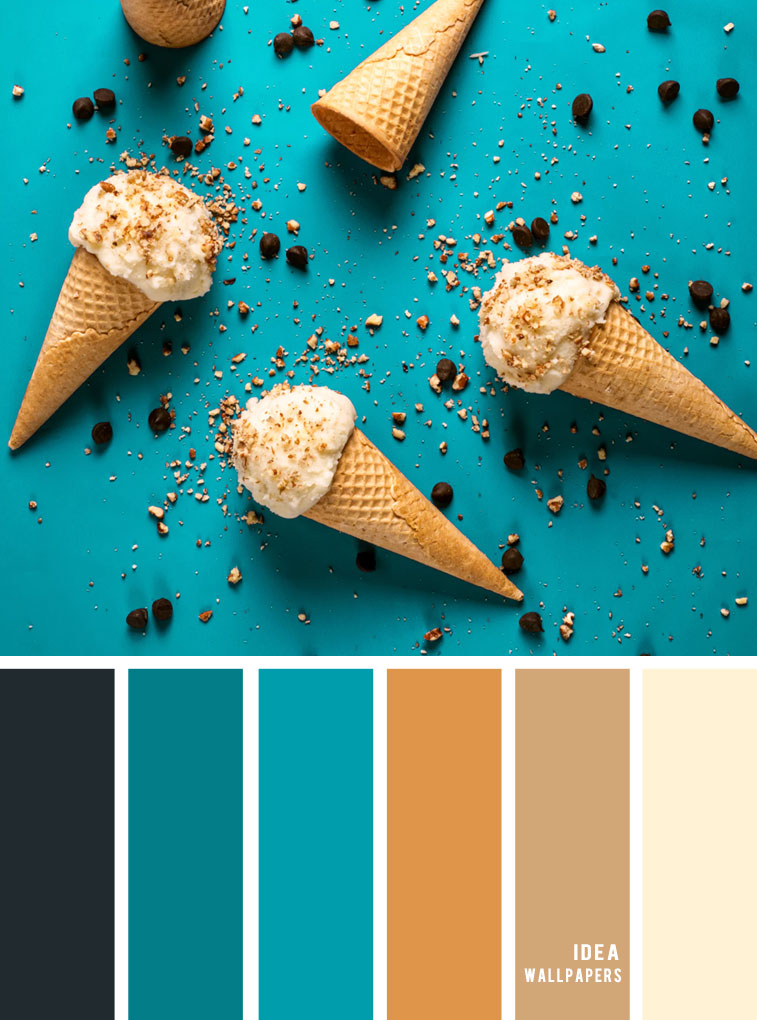 Color Inspiration : Dark Grey + Teal + Camel Color Palette