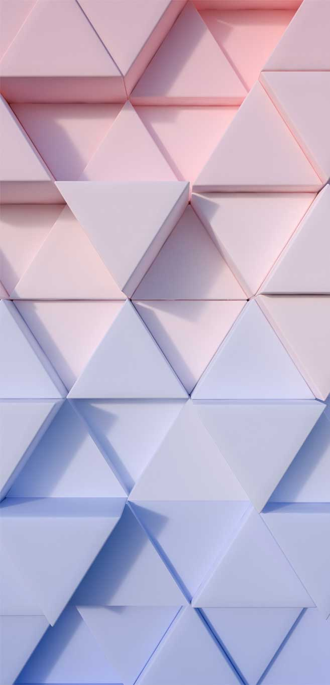 Ombre pink blue geometric wall
