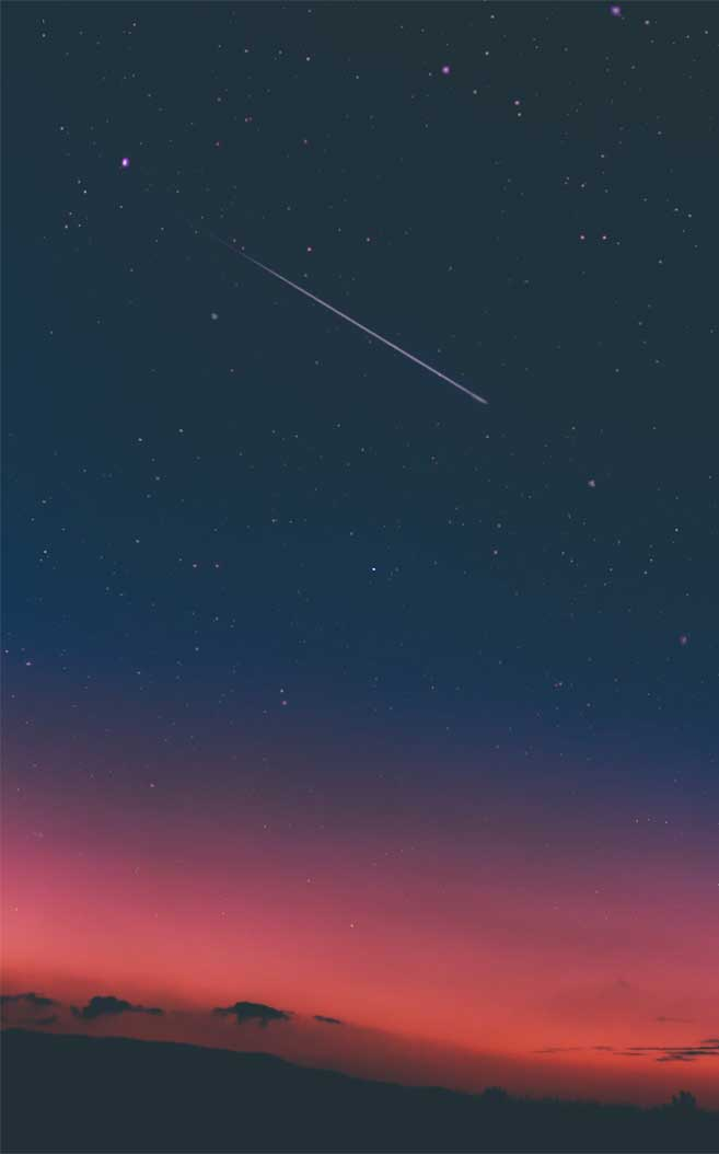 15 Beautiful Wonder Of The Sky For IPhone Wallpaper –  indigo and pink sky + shoot star