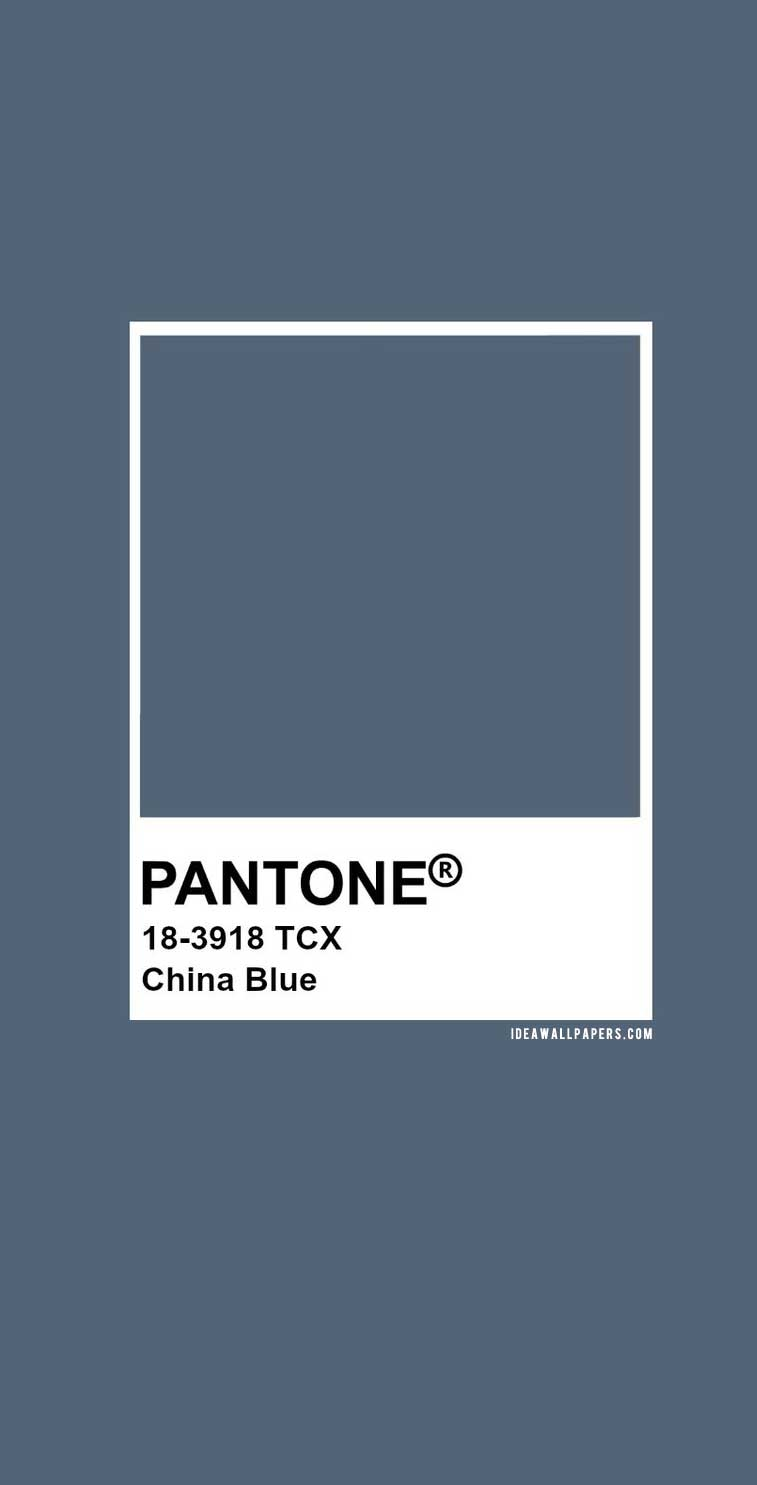 60 Pantone Color Palettes :  Pantone China Blue : Pantone 18-3918