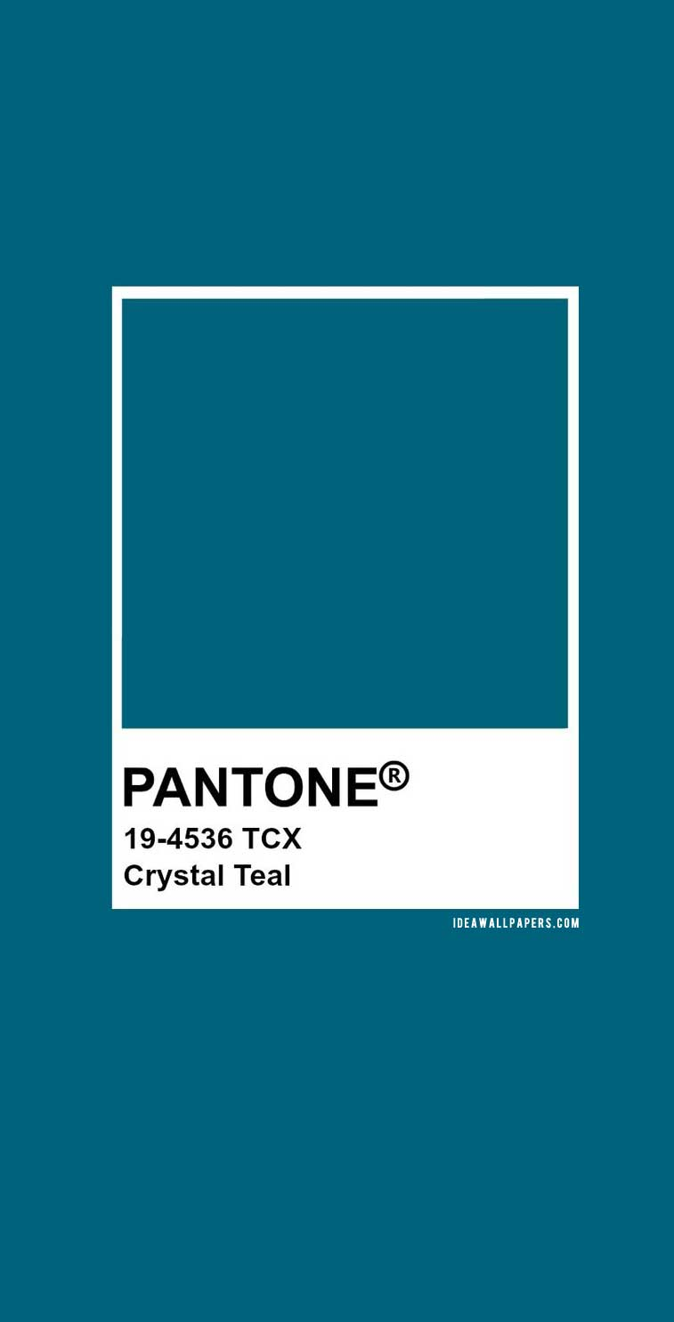 60 Pantone Color Palettes :  Pantone Crystal Teal : Pantone 19-4536