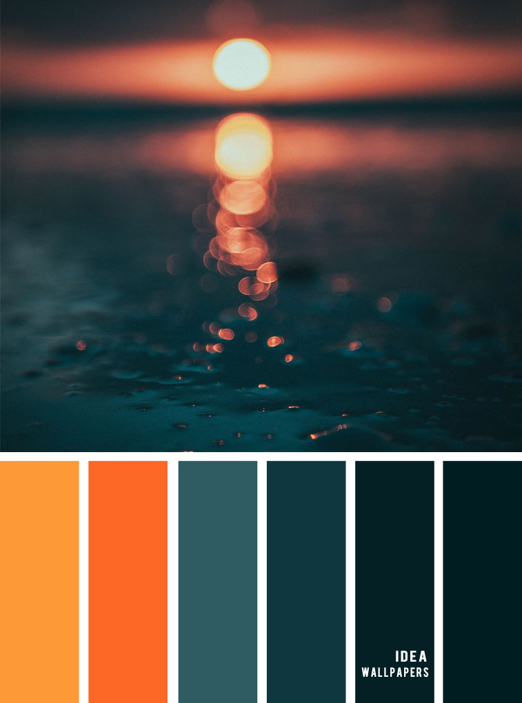 12 Beautiful blue teal color combos { Burnt orange + Dark teal }