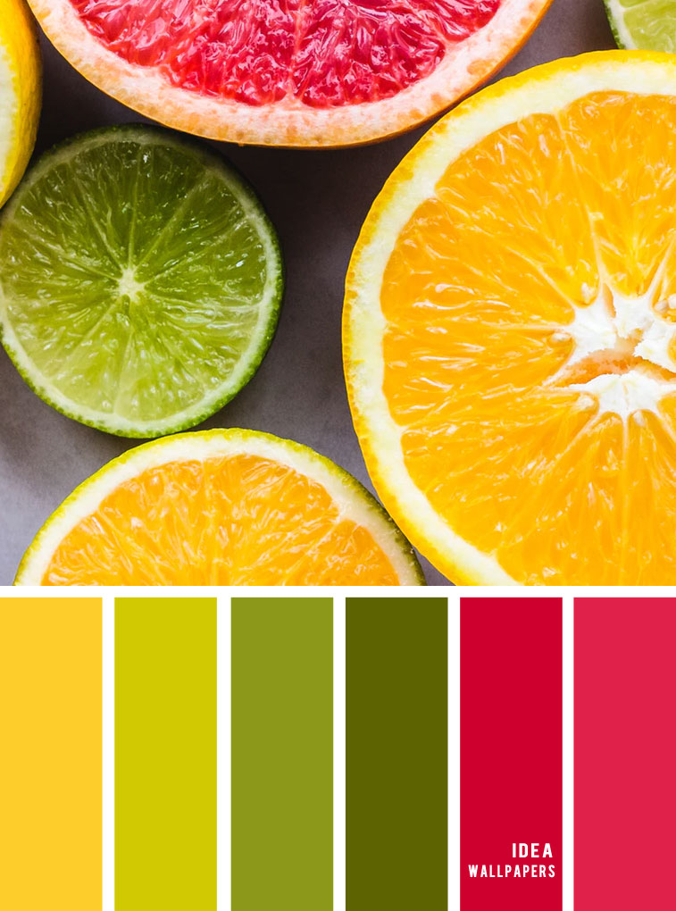 Color Inspiration : Lime + Red + Yellow Color Combos