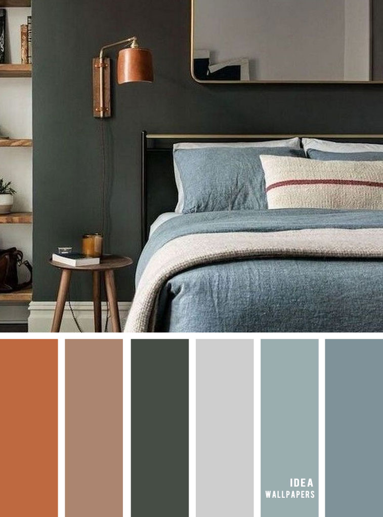 11 Gorgeous Bedroom In Grey Hues { Copper + Cool Green + Grey }