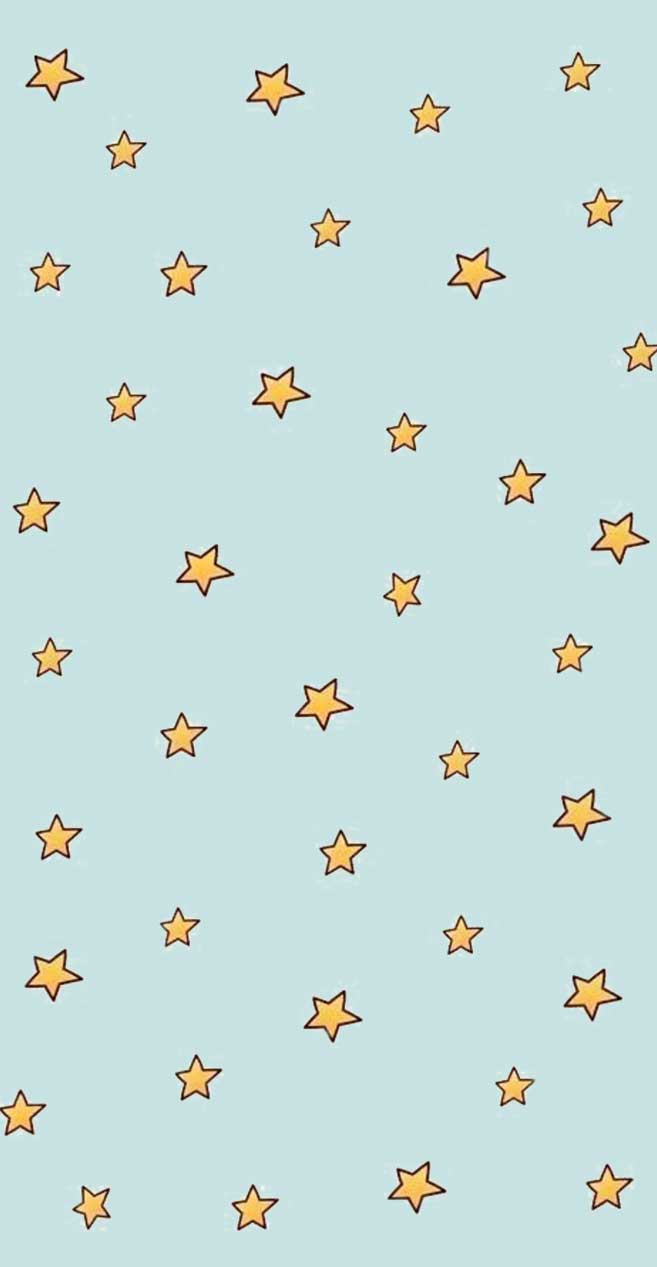 Yellow stars blue background