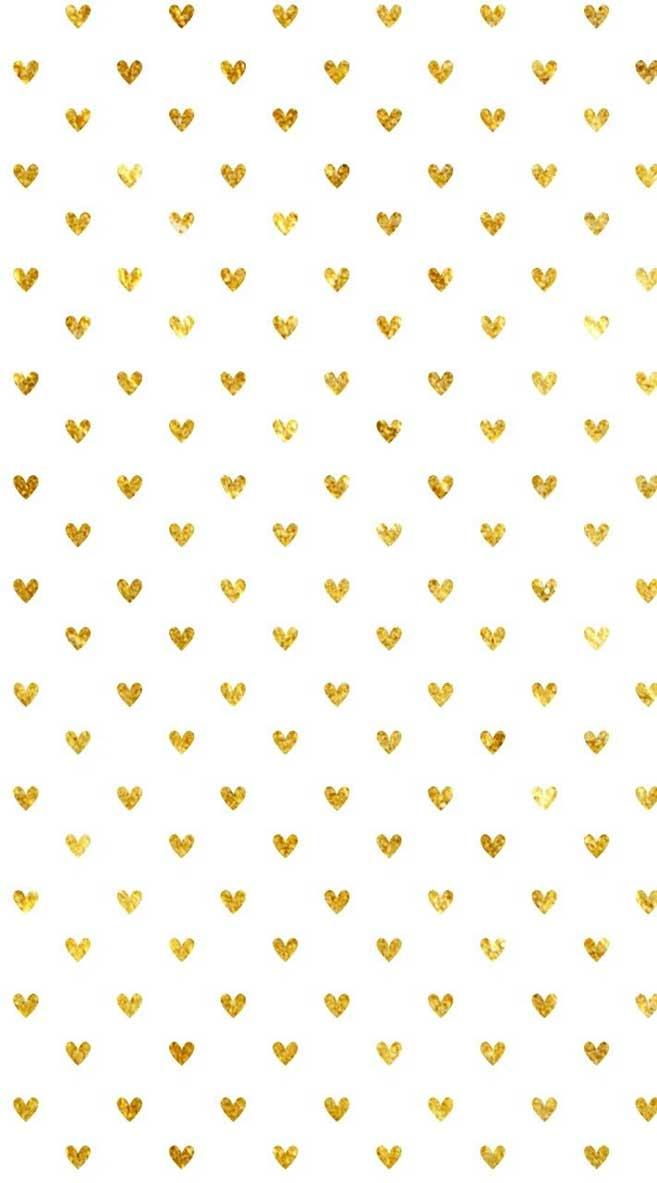 Cute Gold Heart Iphone Wallpaper Background Idea