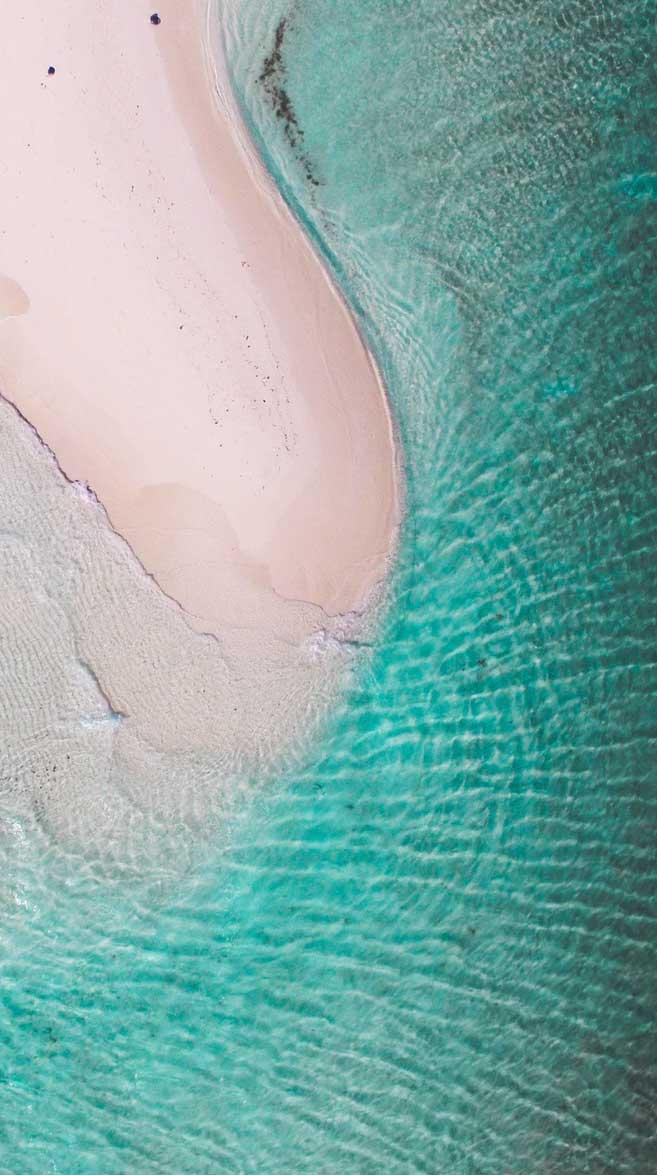 Beautiful beach clear emerald sea