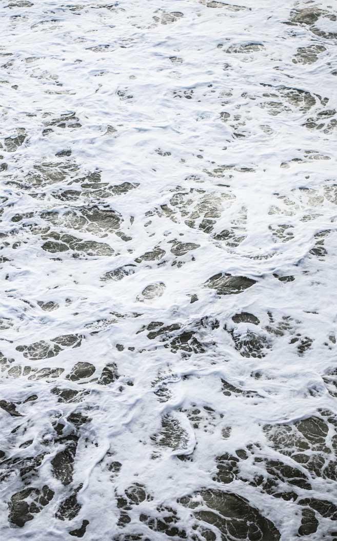 Beautiful white sea foam