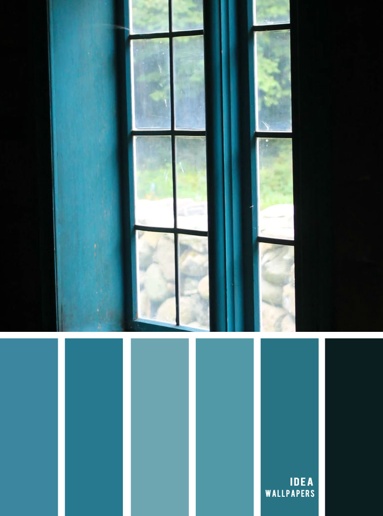 12 Beautiful Blue Teal Color Combos { Blue teal and Black }