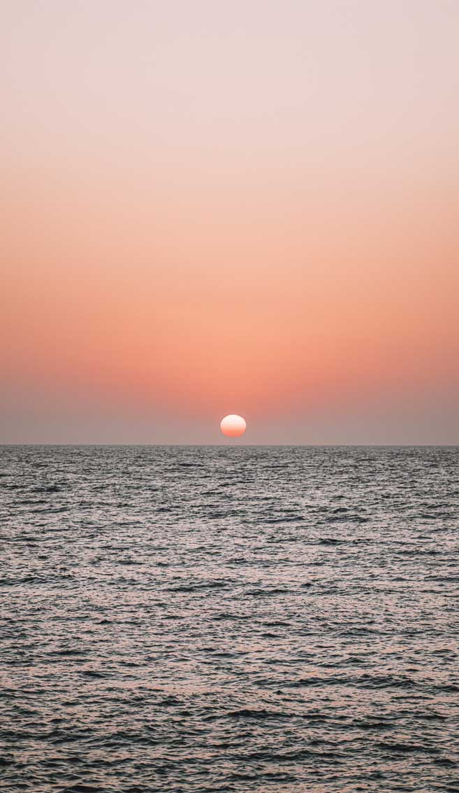 Beautiful And Romantic Sunset Over the Sea