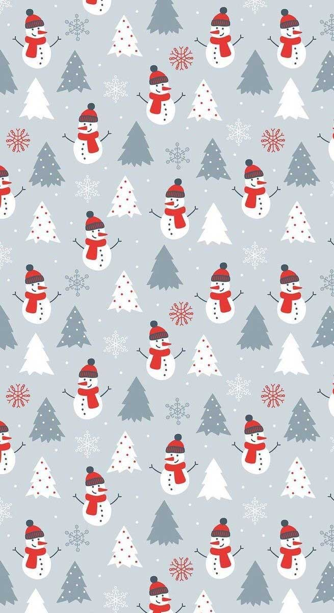 Christmas illustrations – Snowmans & Christmas trees