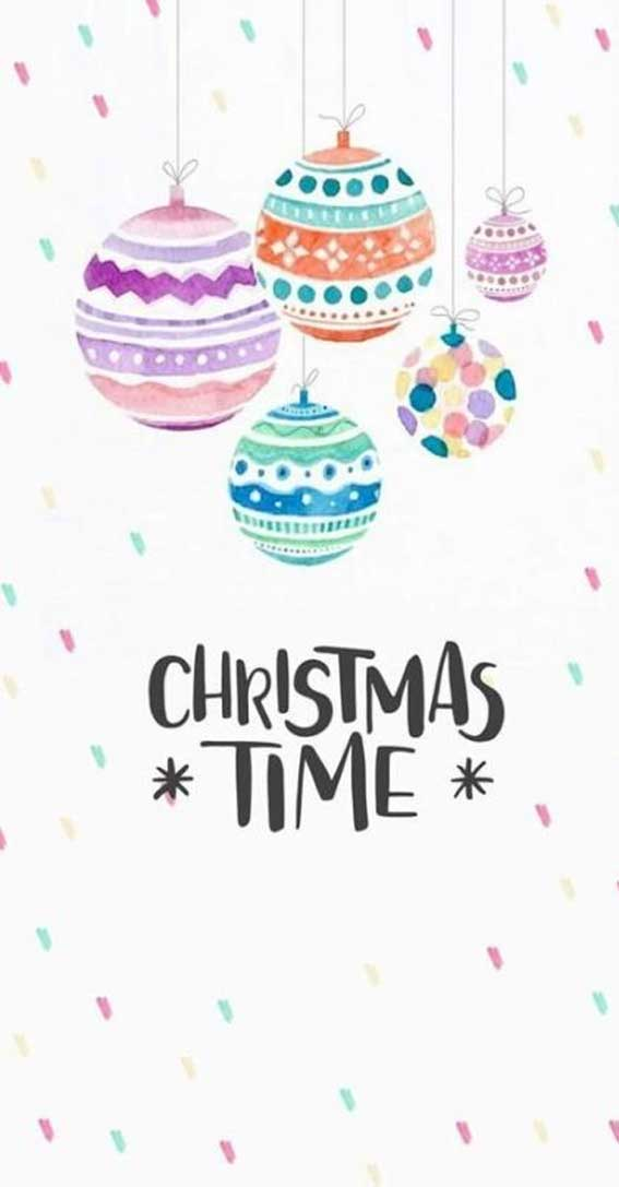Christmas illustration – baubles