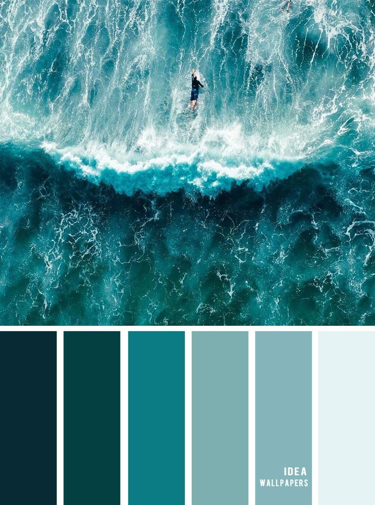 Ocean green inspired color palette
