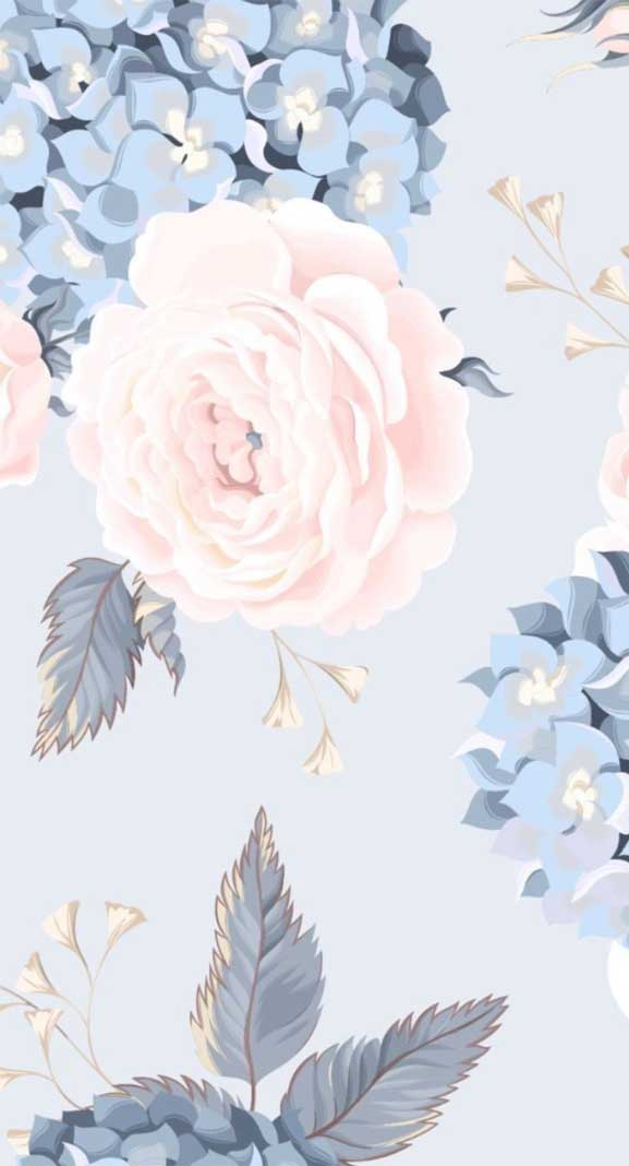 27 Pretty flower illustration iphone wallpaper – page 10
