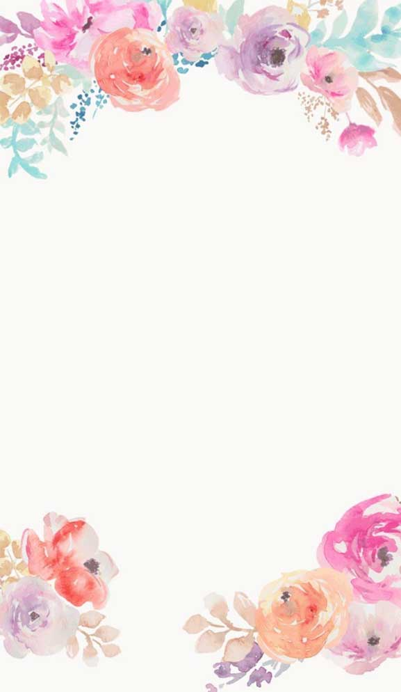 27 Pretty flower illustration iphone wallpaper – page 3
