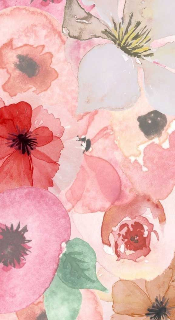 27 Pretty flower illustration iphone wallpaper – page 6