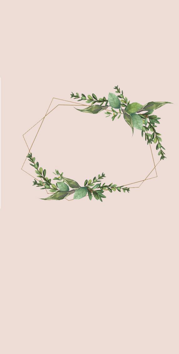 Modern wreath iphone wallpaper