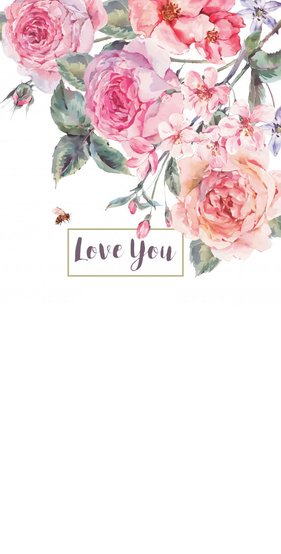 Pretty flower illustration iphone wallpaper